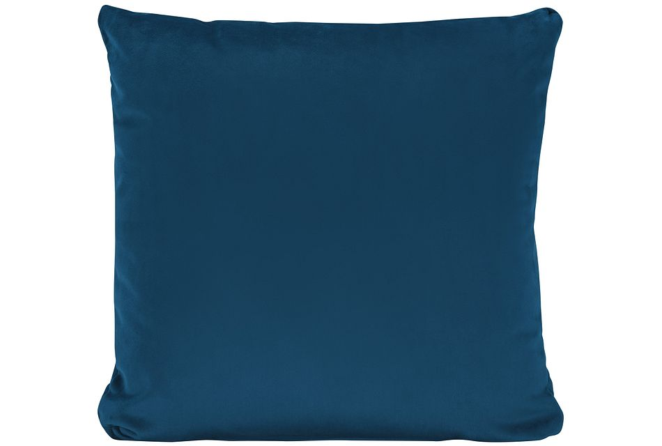 Royale Blue Fabric Square Accent Pillow