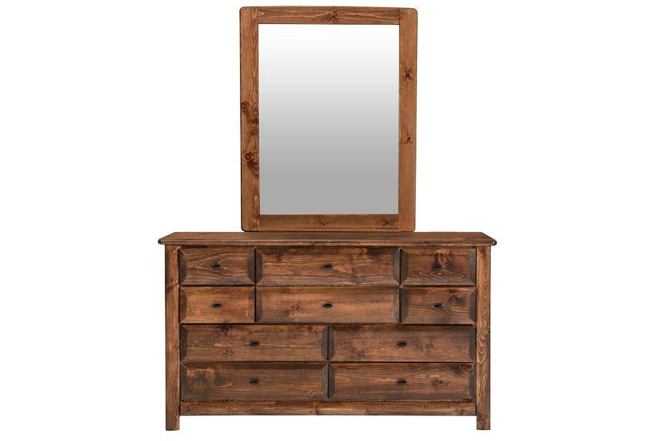 Laguna Dark Tone Dresser & Mirror
