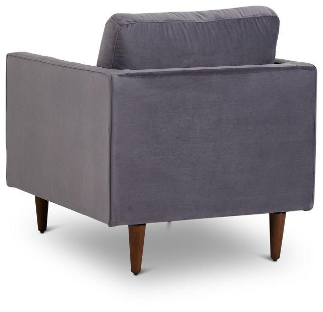 Luna Gray Velvet Chair