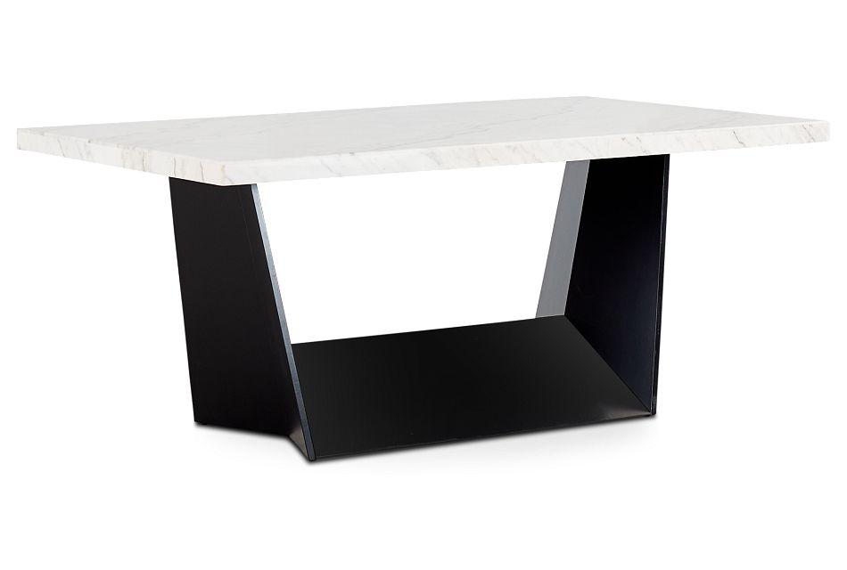 Auburn White Marble Rectangular Table, %%bed_Size%% (2)