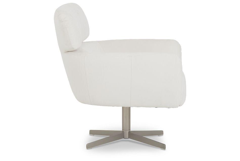 Wynn White Micro Swivel Accent Chair,  (0)