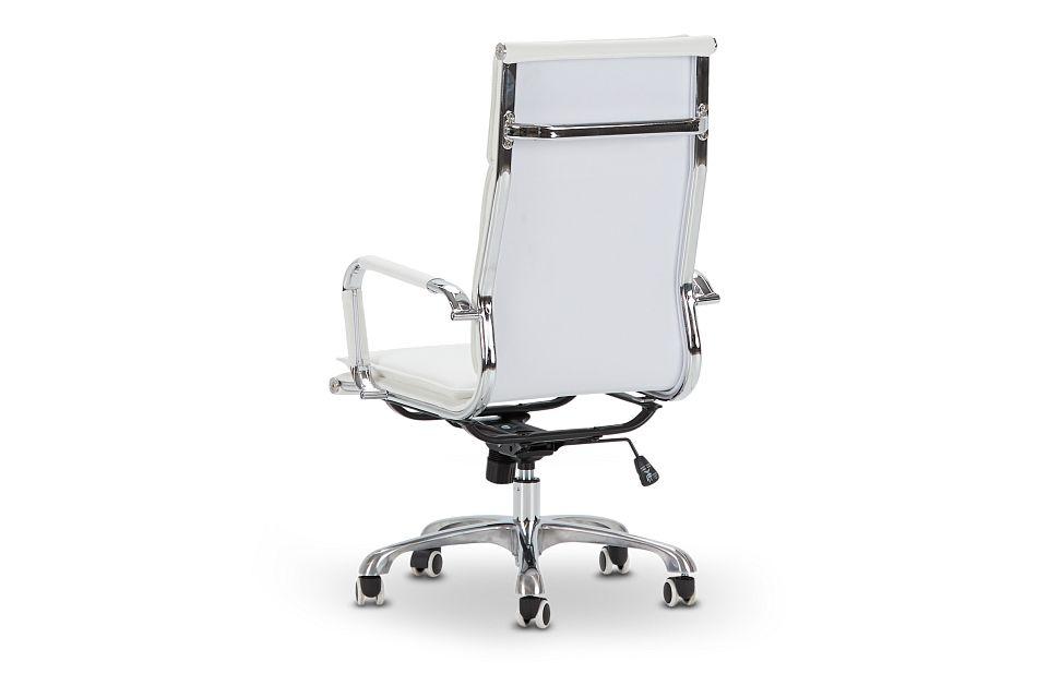 Arvada White Uph Desk Chair