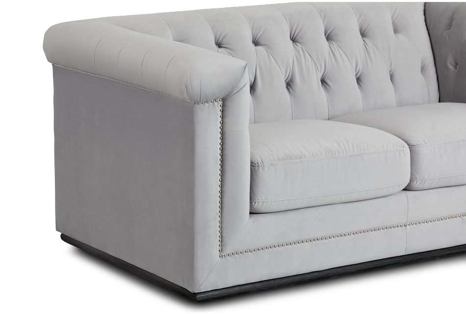 Blair Gray Micro Loveseat