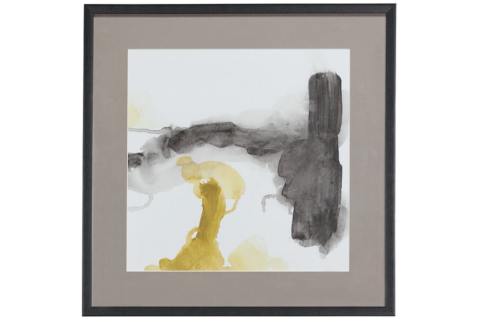 Smear Yellow Framed Wall Art