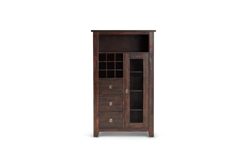 Kona Grove Dark Tone Small China Cabinet,