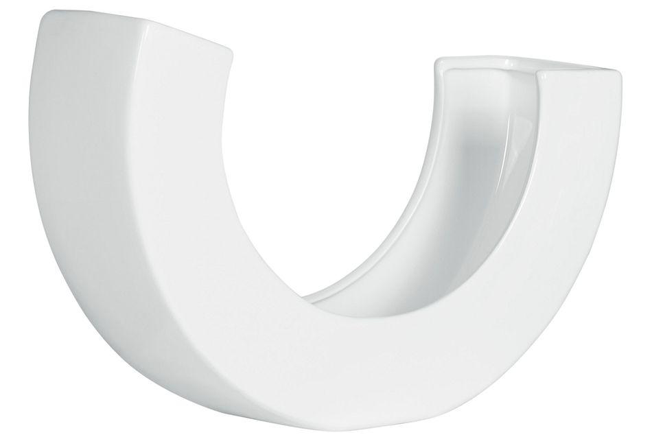 Benito White Curved Vase