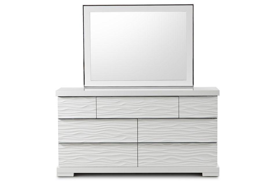 Ocean Drive White Dresser & Mirror