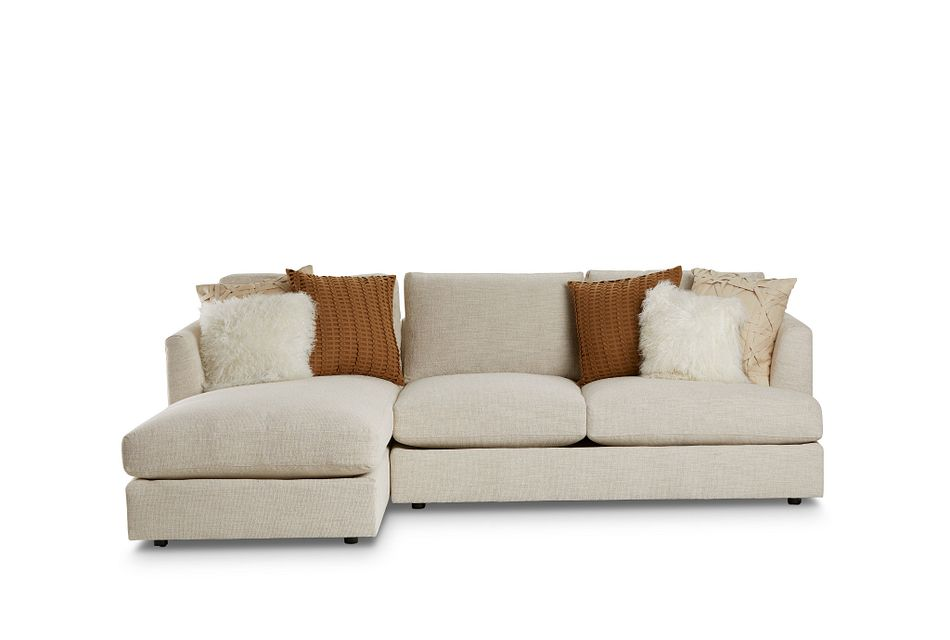 Sydney Light Beige  FABRIC Left Chaise Sectional