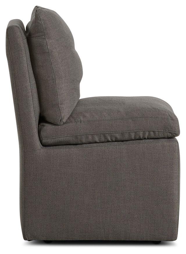 Auden Dark Gray Castored Upholstered Side Chair (2)