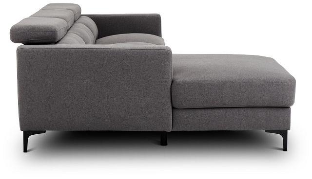 Trenton Dark Gray Fabric Left Chaise Sectional (2)