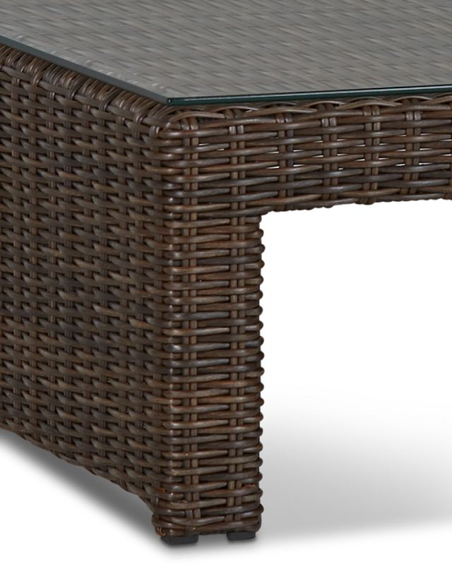 Southport Dark Brown Square Coffee Table (3)