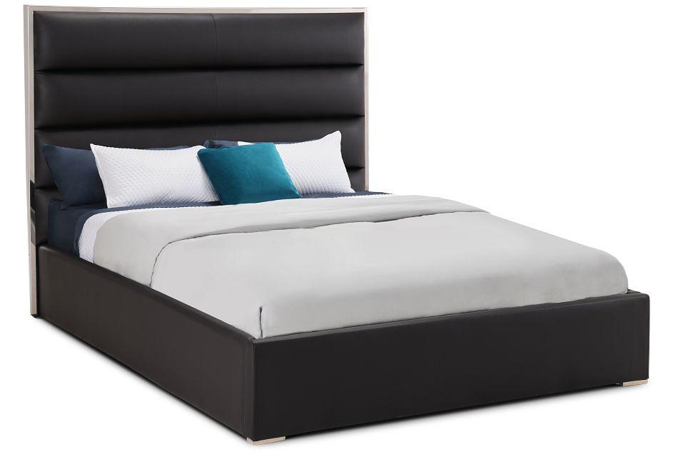Cortina Black Uph Platform Bed, Queen (1)