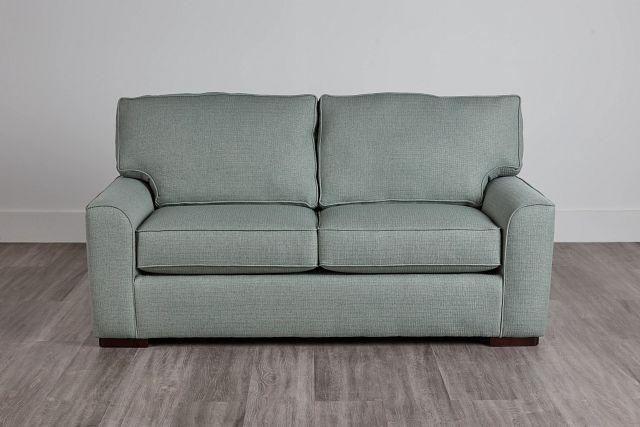 Austin Green Fabric Memory Foam Sleeper (2)