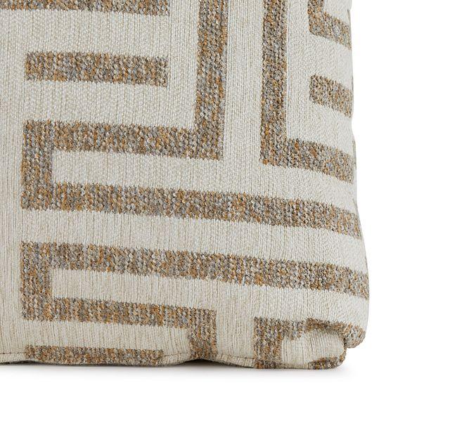 "Doric Beige 18"" Square Accent Pillow (1)"