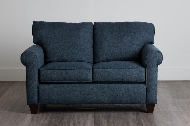 Cameron Blue Fabric Loveseat (0)