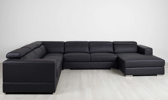 Maxwell Black Micro Large Right Chaise Sectional (0)