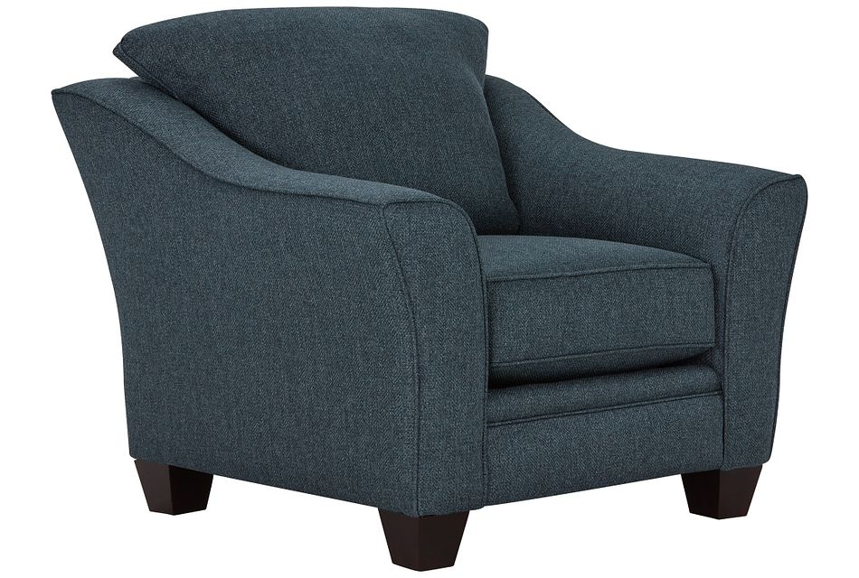 Avery Dark Blue Fabric Chair