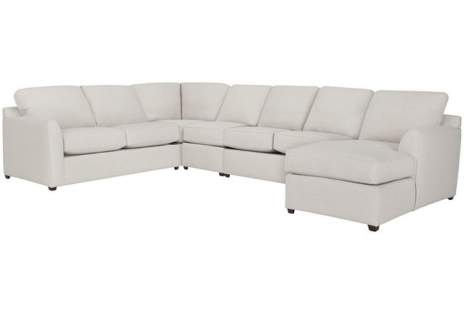Asheville Light Taupe Cool Mfoam Right Chaise Memory Foam Sleeper Sectional