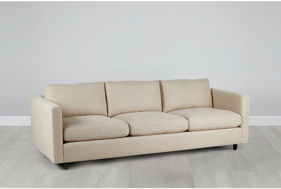 Simone Beige Fabric Sofa