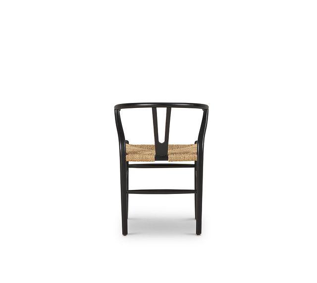 Moya Black Wood Side Chair