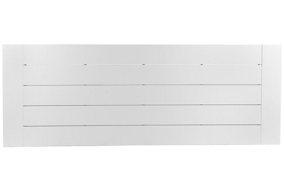 """Linear White 110"""" Rectangular Table"""