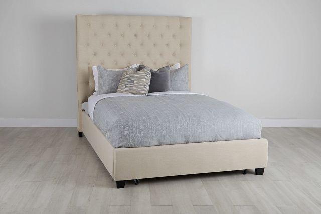 Rylee Beige Uph Platform Storage Bed (0)