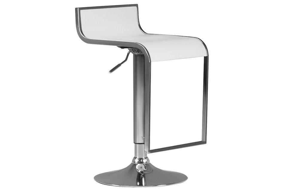 Oslo White  Adjustable Stool