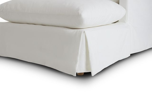 Raegan White Fabric Large Right Chaise Sectional (1)