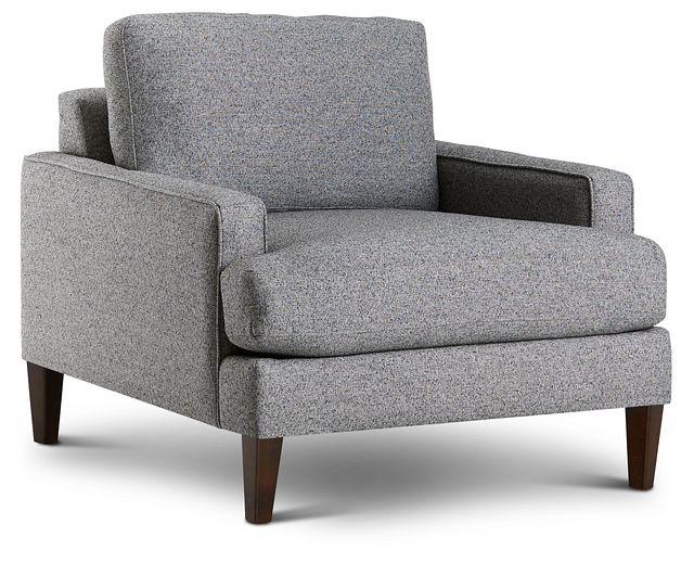 Morgan Dark Gray Fabric Chair With Wood Legs (1)