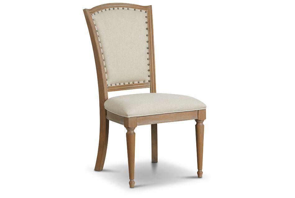 Haddie Light Tone Wood Side Chair,  (1)