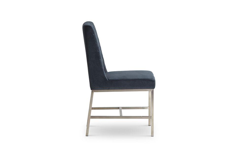 Caspia Dark Gray Velvet Upholstered Side Chair