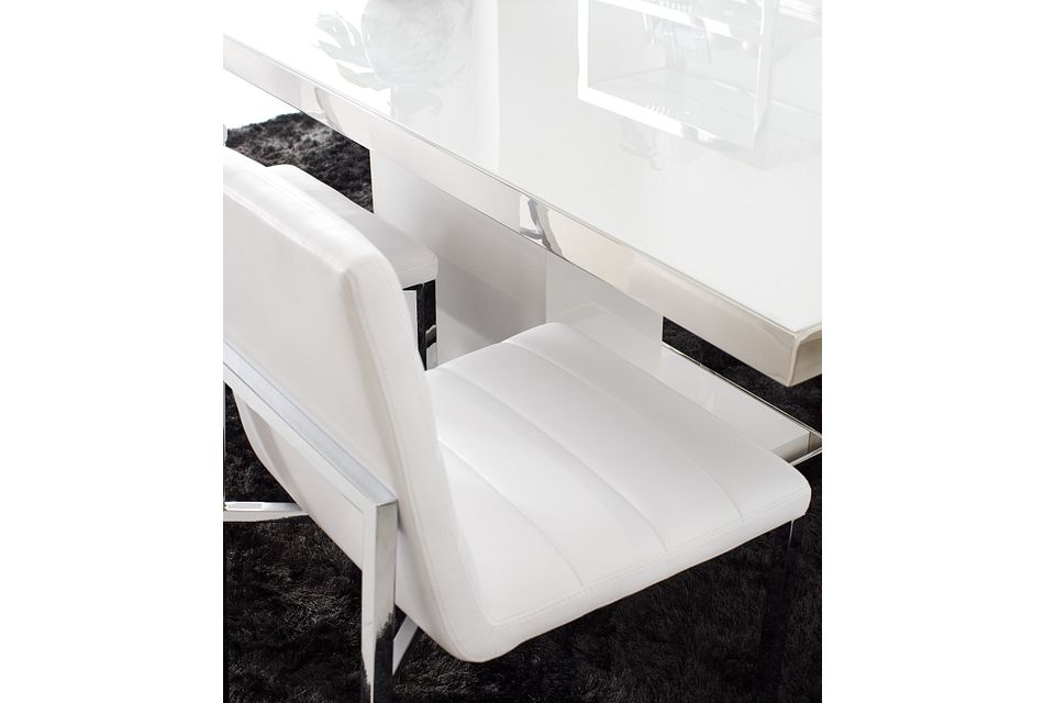 Amalfi White Uph Side Chair