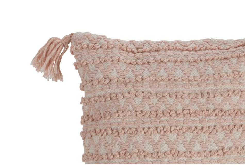 "Ashea Light Pink 22"" Accent Pillow"