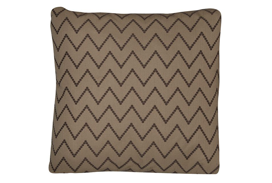 Lulu Brown Fabric Square Accent Pillow