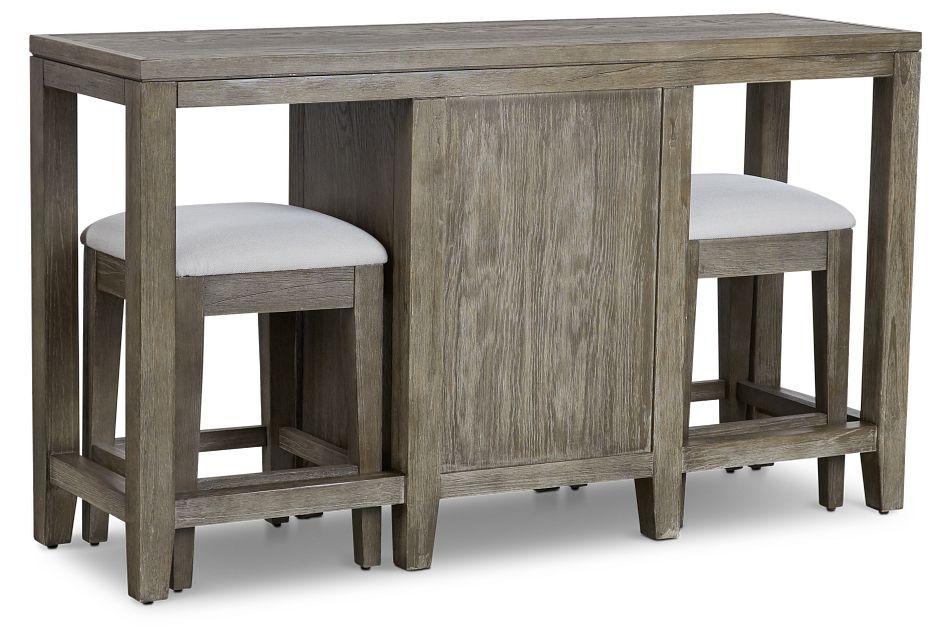 Bravo Dark Tone High Table & 2 Barstools