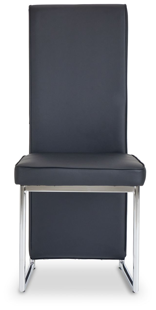 Paris Black Upholstered Side Chair (3)