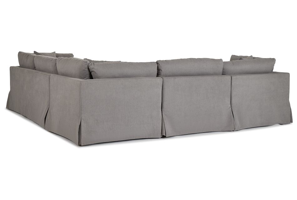 Raegan Gray Fabric Small Left Chaise Sectional