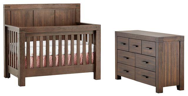 Piermont Mid Tone Crib Bedroom