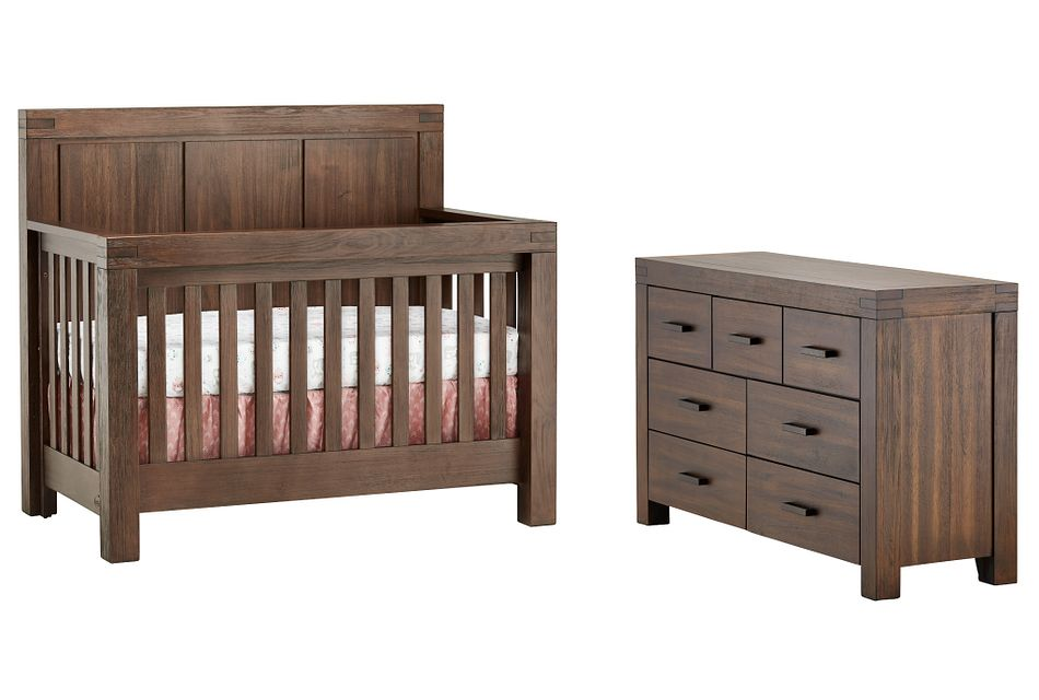 Piermont Mid Tone Crib Bedroom