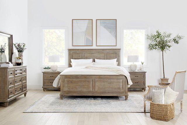 Sonoma Light Tone Panel Bed (1)