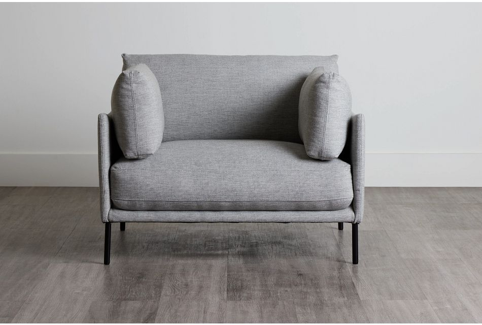 Oliver Light Gray Fabric Chair,  (0)