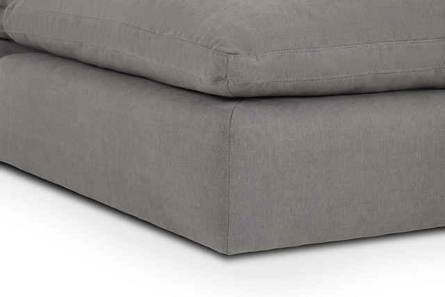 Nixon Light Gray Fabric 5pc Bumper Sectional
