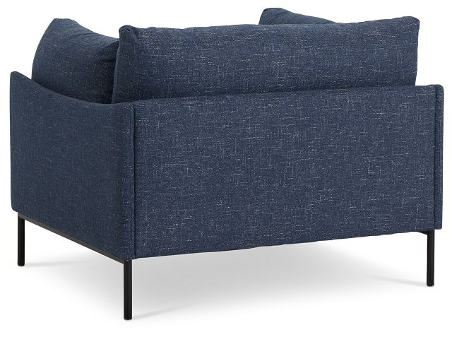 Oliver Dark Blue Fabric Chair
