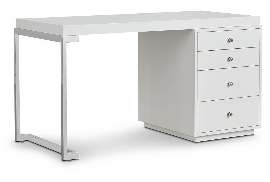 Whitley White Marble Writing Desk,  (2)