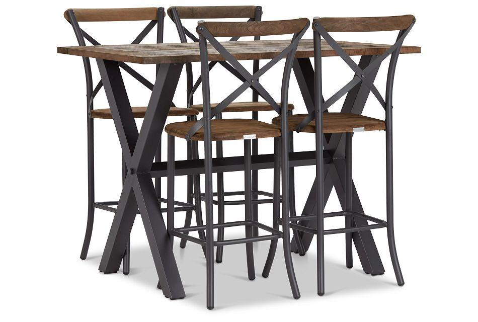 "Canyon Dark Tone 54"" Pub Table & 4 Barstools,  (1)"