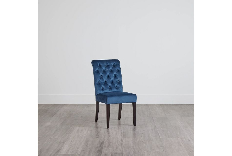 Sloane Dark Blue Upholstered Side Chair,  (0)