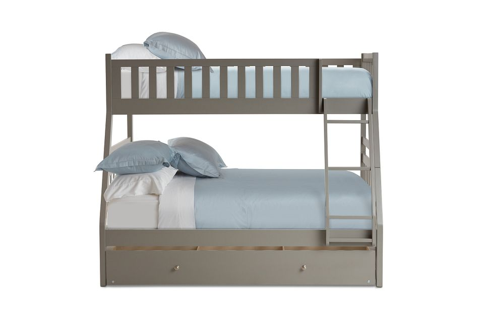 Oakley Gray Storage Bunk Bed