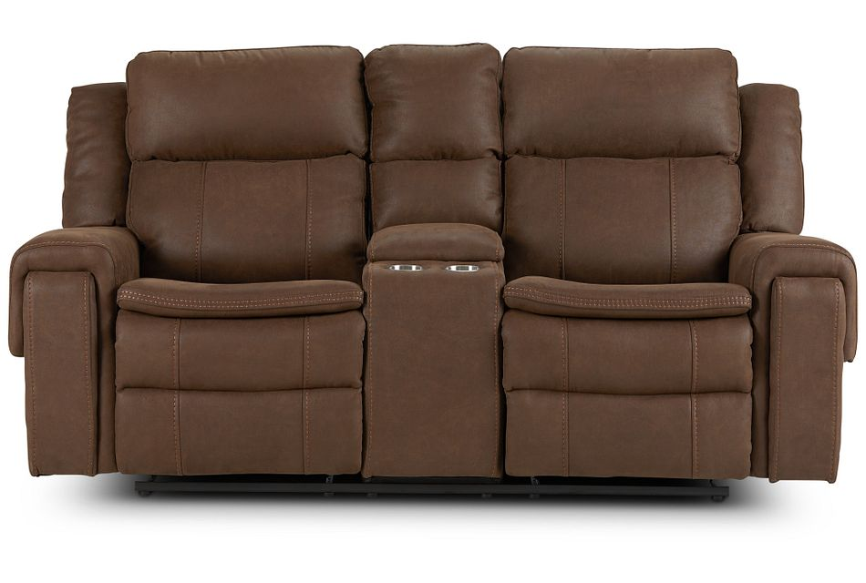 Scout BROWN MICRO Power Reclining Console Loveseat,  (1)