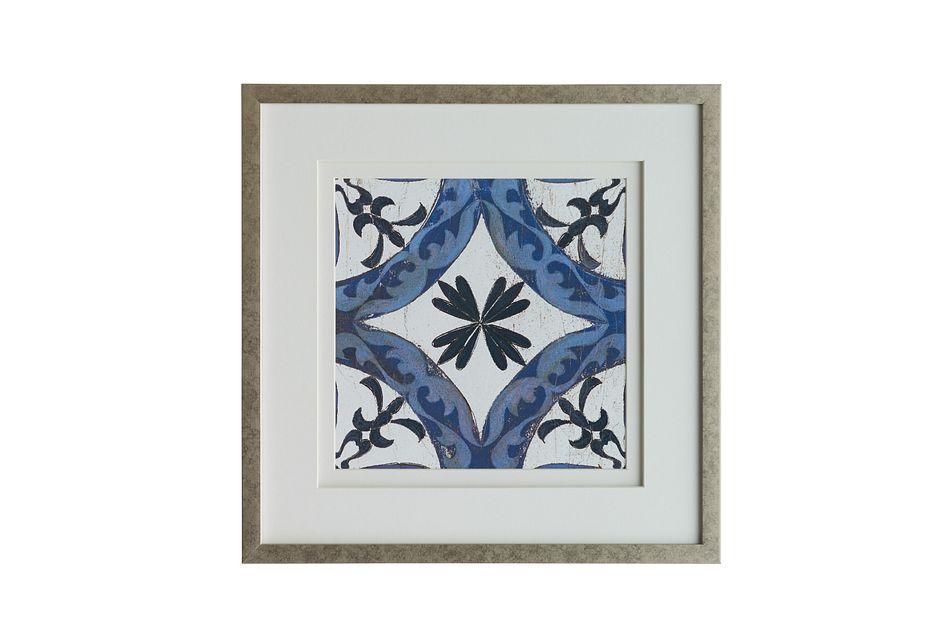 Spruce Dark Blue Framed Wall Art