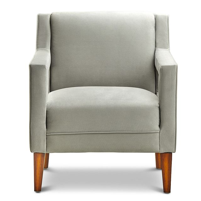Dawson Light Gray Velvet Accent Chair (2)
